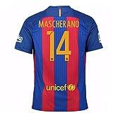 2016-17 Barcelona Sponsored Home Shirt (Mascherano 14)