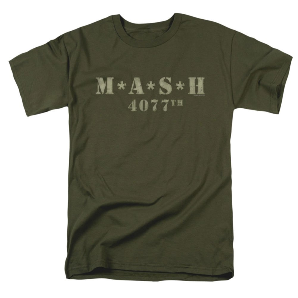 Mash Distressed Logo T Shirt