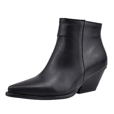 ღLILICATღ Botas Mujer Modelo De Piel De Serpiente Dedo del Pie Cremallera Botas Gruesas Puntiagudas Zapatos Botas Zapatos Altos (35-43): Deportes y aire libre