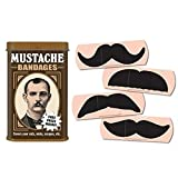 Mustache Bandages Band-Aids Funny Gift Gag Humor Safety by MyPartyShirt
