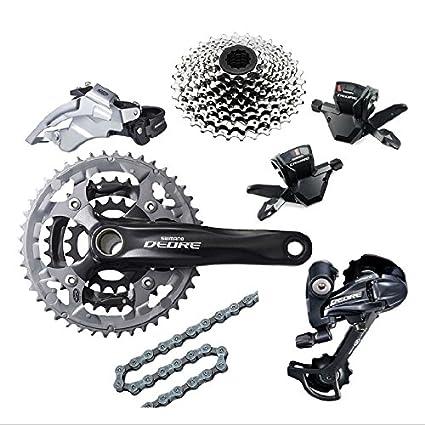 41dedf1dff1 Amazon.com : Shimano Deore M590 Groupset 3x9 Speed MTB Bicycle Bike Group  Set 7Pcs : Sports & Outdoors