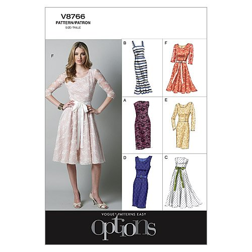 Vogue Patterns V8766 Misses'/Misses' Petite Dress, Size D5 (12-14-16-18-20)