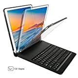 New iPad pro 10.5 Case with Keyboard,KIWETASO Ultra Slim 7 Colors Backlit aluminium Clamshell Keyboard Smart Protective Case and Cover for Apple iPad 10.5 inch 2017 Model(Black)