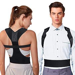 OMERIL Corrector Postura Espalda, Corrector de Postura Ajustable y Respirable para Espalda, Hombros y Clavícula, 2… 8