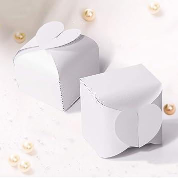 Amazon.com: Cajas de regalos para fiestas de boda, caramelos ...