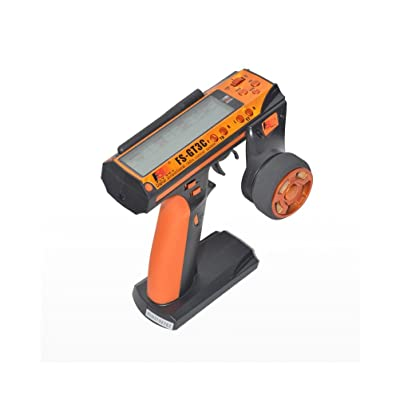 Flysky FS-GT3C AFHDS 2.4GHz 3CH Radio 3Channel LCD Transmitter+ FS-GR3E Receiver (Orange): Toys & Games