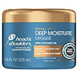 Head and Shoulders Masque Conditioner Treatment, Anti Dandruff, Royal Oils Collection with Coconut Oil, for Natural and Curly Hair, 7.6 fl oz