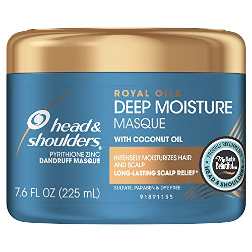 Head and Shoulders, Masque Conditioner Treatment, Anti Dandruff, Royal Oils Collection with Coconut Oil, for Natural and Curly Hair, 7.6 fl ()