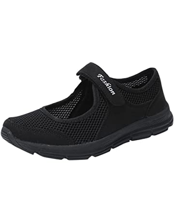 save off fb62f af8a4 Logobeing Zapatosde Mujer Zapatillas Respirable Mocasines Deportes Casual  Sandalias Antideslizantes Fitness Correr Calzado Deportivo Zapatilla Malla