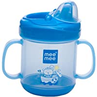 Mee Mee No Spill Sipper Cup with Double Handle,180ml (Blue)