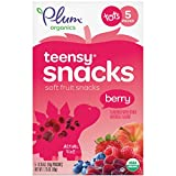 Plum Organics Teensy Snacks Organic Toddler Fruit Snacks, Berry, 1.75 Ounce Bags (Box of 5)