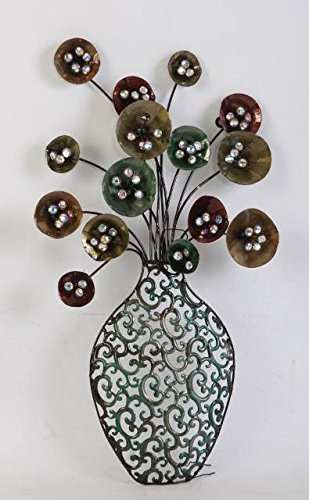 TWG Metal Wall Art Modern Wall Sculptures: Modern Blossom Bouquet Flower Bouquet