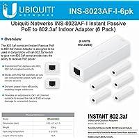 Ubiquiti Networks INS-8023AF-I Instant Passive 802.3af Adapter POE Device Indoor (6 Pack)