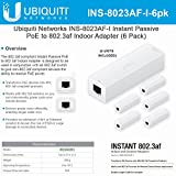 Ubiquiti Networks INS-8023AF-I Instant Passive 802.3af Adapter POE Device Indoor (6 Pack)