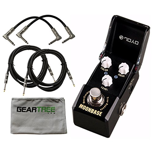 Joyo JF-332 Moonbase Bass Overdrive Pedal w/ Cloth and 4 Cables by Joyo Audio