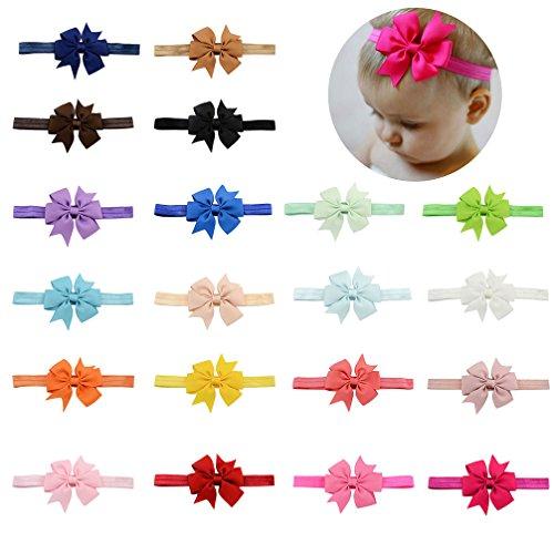 Baby Girls Headbands Elastic Bowknot Banda para el cabello suave para ninos nino infantil 20pcs