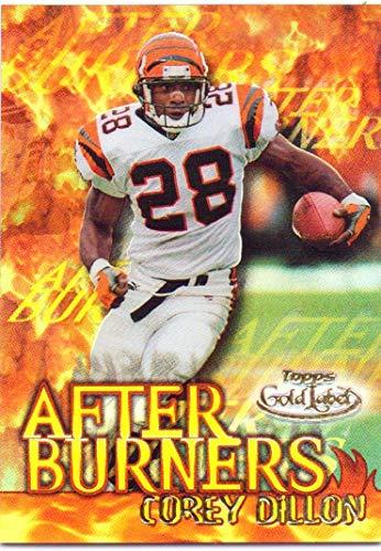 Corey Dillon 2000 Topps Gold Label After Burners #A2 - Cincinnati Bengals