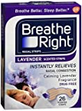 Breathe Right Nasal Strips Lavender Scented - 26 ct