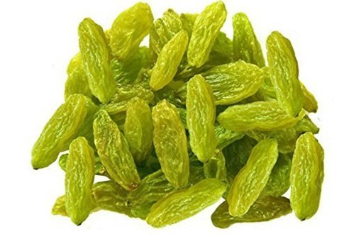 4 Pound (1816 grams) Dried grapes green color Grade A from Xinjiang (新疆葡萄干绿色) by JOHNLEEMUSHROOM RESELLER