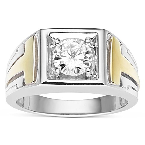 Forever Classic Men�s Round 7.0mm Moissanite Wedding Band-size 11, 1.20ct DEW By Charles & Colvard by Charles & Colvard (Image #6)