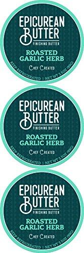 Epicurean Butter,  Roasted Garlic Herb (Pack Of 3)