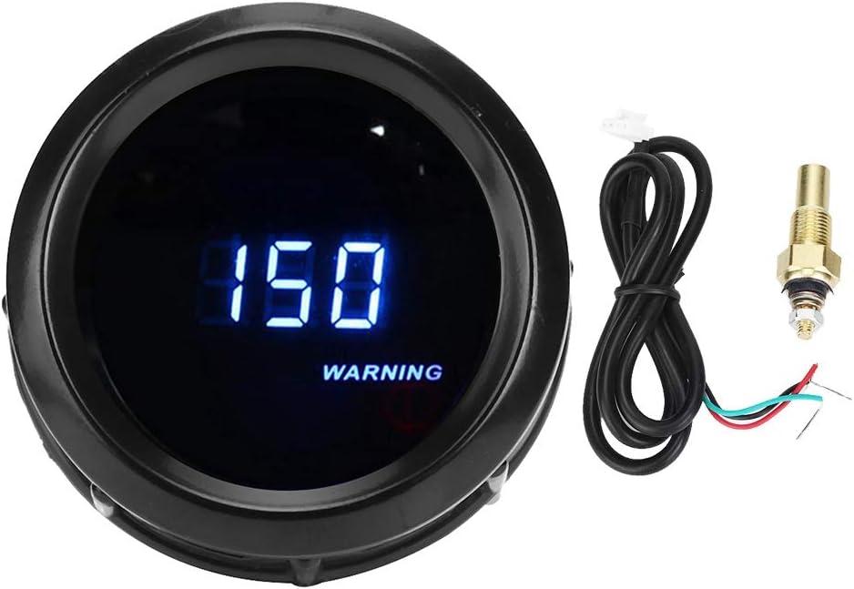 KIMISS universale 12 V 2in misuratore di temperatura dellacqua LED blu digitale Adattatore sensore sensore temperatura acqua 1//8 NPT