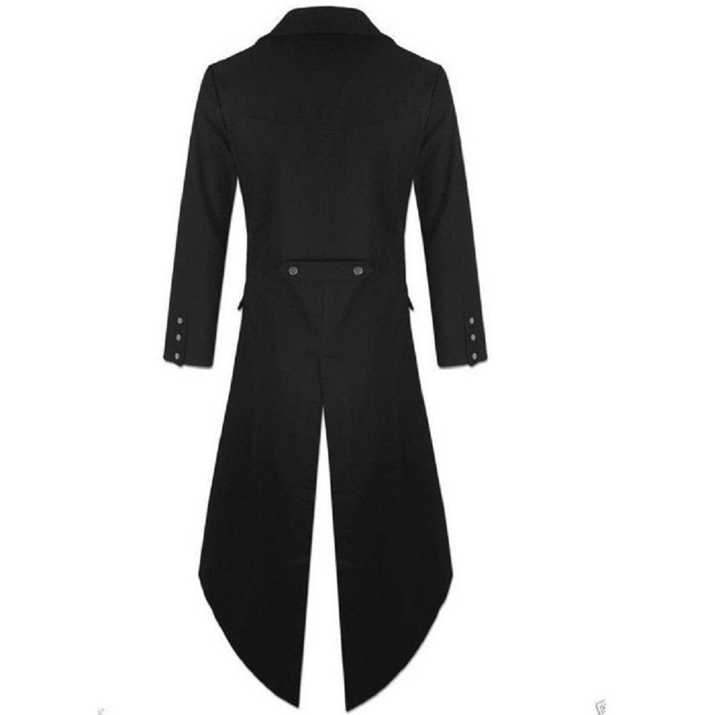 Karlywindow Men's Gothic Tailcoat Victorian Costume Steampunk Jacket by Karlywindow (Image #2)