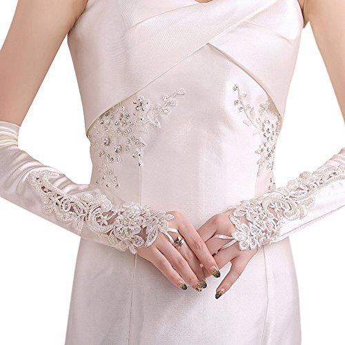 置換関与する体操選手DRASAWEE(JP)ウェディンググローブ ロング 花嫁 結婚式 手袋 ホワイト レース キレイ 花嫁用品