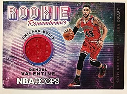 5e6942f7d13 2018-19 Panini Hoops Rookie Remembrance Basketball Card #8 Denzel Valentine  Chicago Bulls Official
