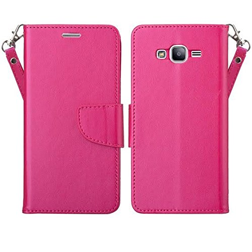 brand new 6d212 d0213 Galaxy J7 Case, Samsung Galaxy J7 Wallet Case, Wrist Strap Flip Folio  [Kickstand Feature] Pu Leather Wallet Case with ID&Credit Card Slot For  Galaxy ...