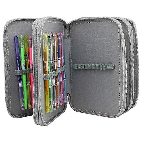 MerryMore Canvas Pencil Case Large Capacity Pencil Holders C