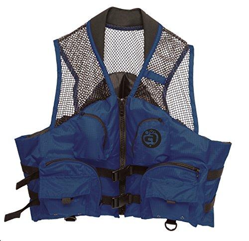 YUKON Deluxe Mesh Top Fishing Vest, Navy