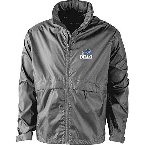 NFL Buffalo Bills Men's Sportsman Waterproof Windbreaker Jacket, Graphite, medium Buffalo Bills Mens Jackets