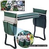Artist Hand Garden Kneeler Seat w/Two Large Bonus Tool Pouches & Soft EVA Kneeling Pad Foldable Stool