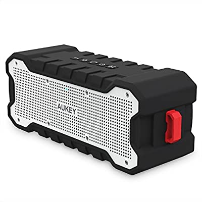 AUKEY SoundTank Bluetooth Speaker with 30 Hour Playtime, Enhanced Bass, Water Resistant Wireless Speaker for iPhone, iPad, Samsung and More from AUKEY