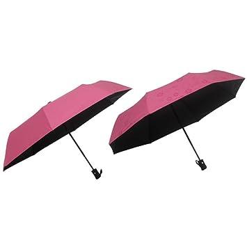 Paraguas Flores De Agua Sombrilla Paraguas Automáticas De Vinilo,D