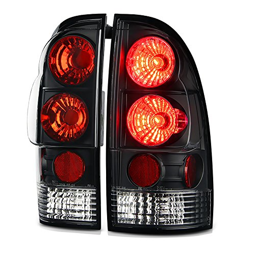 - VIPMOTOZ For 2005-2008 Toyota Tacoma Black Bezel Euro Style Altezza Tail Light Housing Lamp Assembly Replacement Driver and Passenger Side