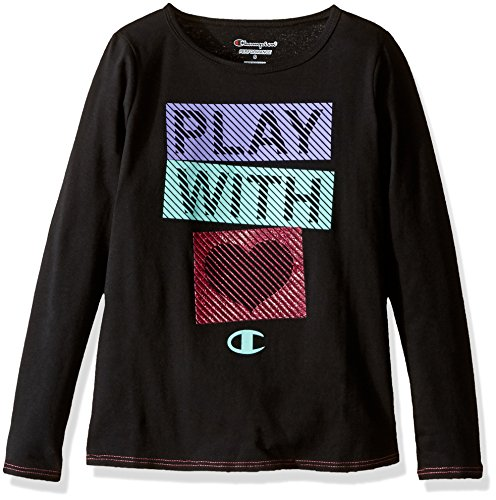 Champion Big Girls' Try to Keep up Ls Graphic Tee, Black, XL (Girls Champion Clothes compare prices)