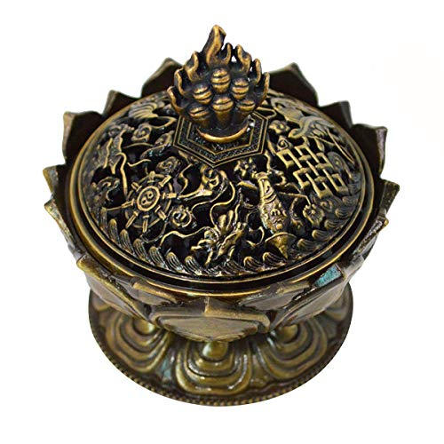 Buddha Lotus Flower Incense Burner Alloy Metal Incense Holder Censer Creative - Incense Burner Tibetan