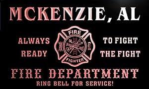 qy50269-r FIRE DEPT MCKENZIE, AL ALABAMA Firefighter Neon Sign