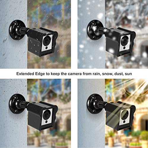 Deyard Upgraded Weatherproof Wall Mount and Cover Case for Wyze Cam 1080p  HD Camera and iSmart Alarm Spot Camera Security Steady Indoor Outdoor