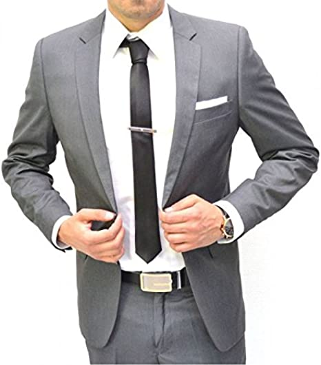 IRMAO - Traje para hombre (2 botones), color gris gris 58 : Amazon ...