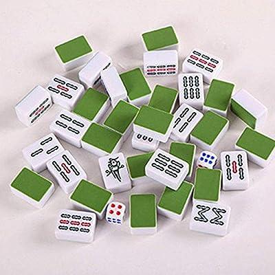 Mah Jong Mini Mahjong Juegos de Mesa Familiar portátiles Mahjong Juego Mahjong Juegos de la Familia con la Caja Tradicional Juego de Conjunto (Color: Plata, Tamaño: Un tamaño): Amazon.es: Juguetes y juegos