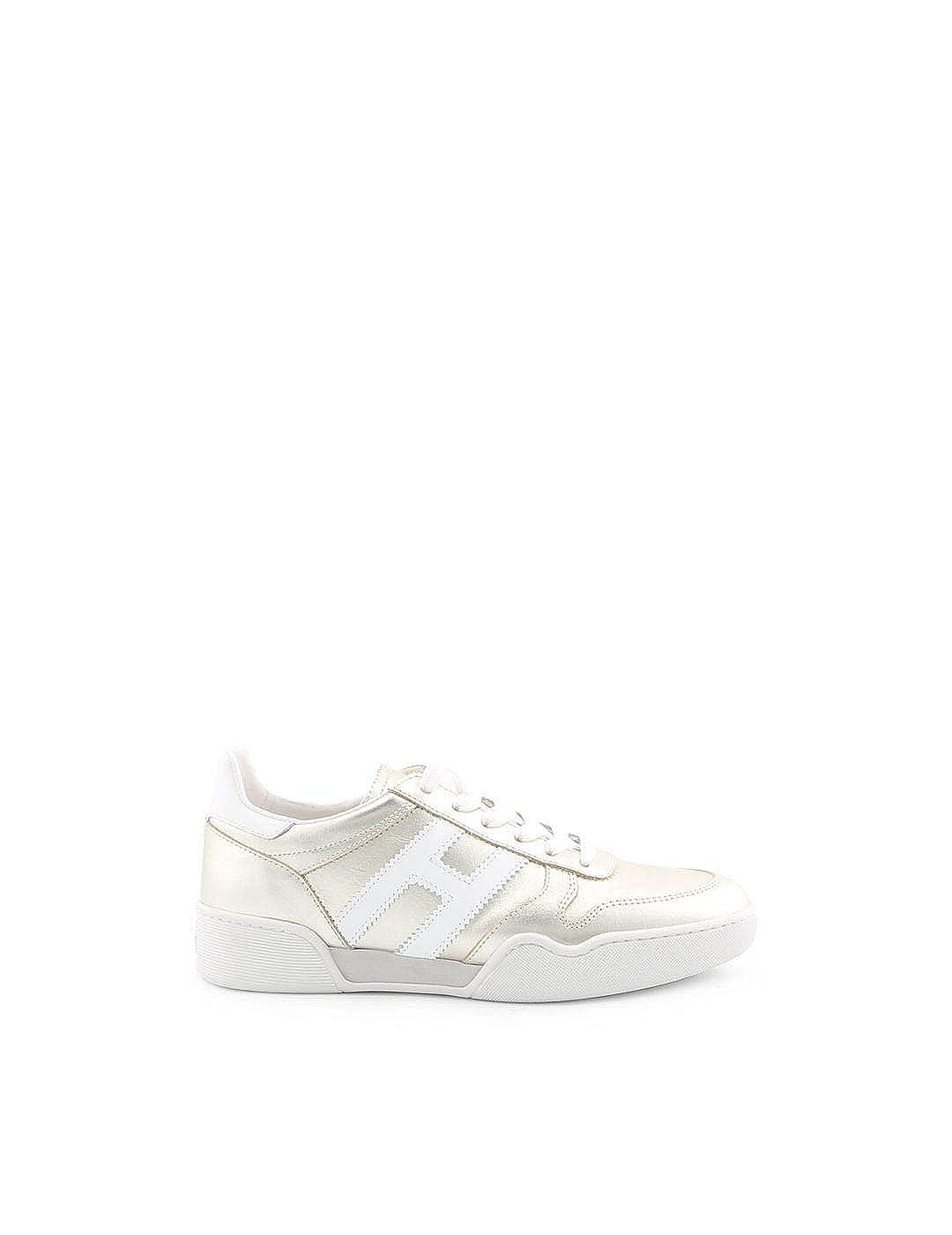- Hogan Women's HXW3570AC40I81904X gold Leather Sneakers