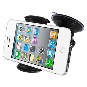 Mivizu Universal Windshield/Dashboard Car Holder Cradle for iPhone 5, Samsung Galaxy S3, S2, Note 2, Motorola Droid Razr HD Maxx, iPhone 4s & Vent Mount