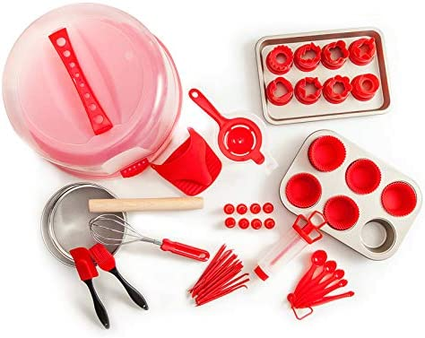 Re.cook dinner 59 PCS Cake Decorating Kit, Complete Cake Decorating Supplies and Baking Supplies, Piping Bag Tool, Muffin Cup Mold,cookie baking set for Adults and Kids