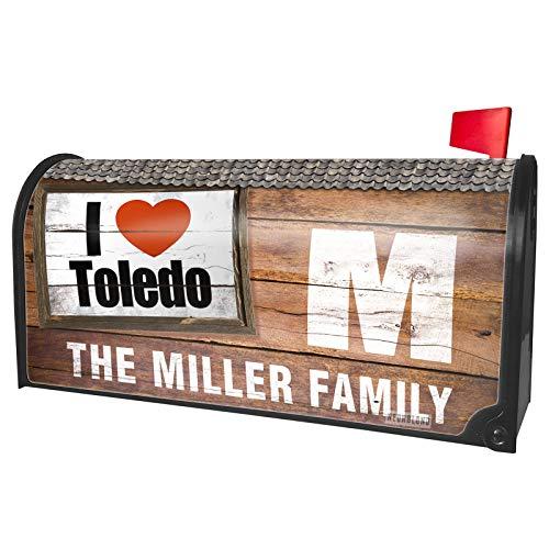 NEONBLOND Custom Mailbox Cover I Love Toledo Region: