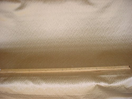 200H1 - Metallic Champagne Textured Tufted Plisse Designer Upholstery Drapery Fabric - By the Yard