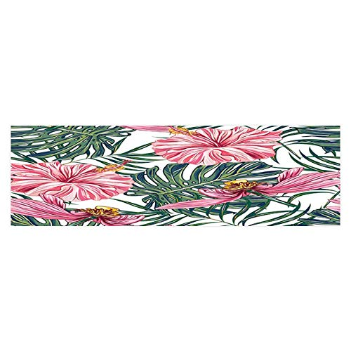 - Dragonhome Background Fish Tank Decorations Tropical Flowers Palm Leaves Hibiscus Pink Lotus Vector Jungle Fish Tank Backdrop Static Cling Wallpaper Sticker L23.6 x H19.6