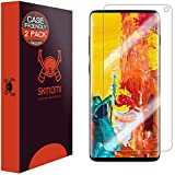 "Skinomi TechSkin [2-Pack] (Case Compatible) Clear Screen Protector for Samsung Galaxy S10 6.1"" [Will NOT Work w/Verizon Galaxy S10 5G 6.7""] Anti-Bubble HD TPU Film"